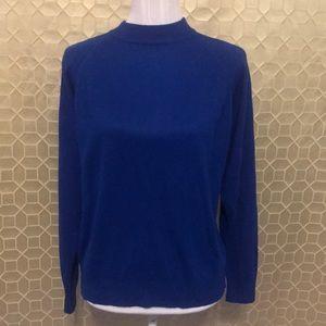 Designers Originals Soft Mock Neck Sweater Blue XL